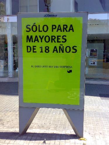 Anuncio 3D en Madrid
