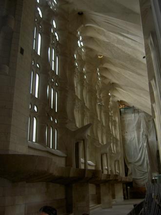 Lateral de la nave central