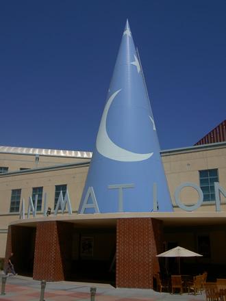 Imagen caracteristica del exterior de los estudios Disney