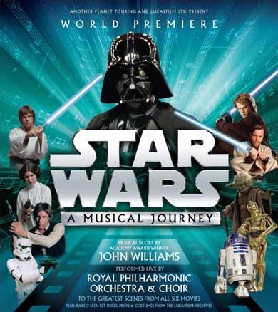 Poster del musical sobre La Guerra de las Galaxias