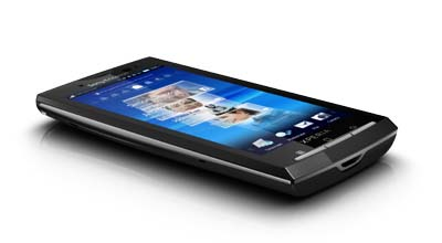 Xperia X10 - vista frontal